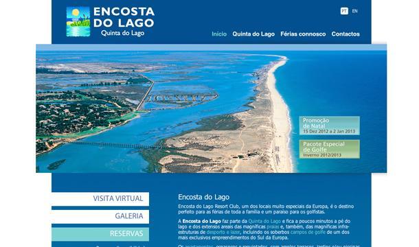 Encosta do Lago website